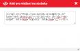 Příklad vkládaného kódu